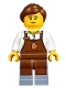 Minifig No: hol091  Name: Winter Holiday Train Station Station Barista