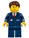 Minifig No: hol094  Name: Winter Holiday Train Station Ticket Agent