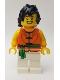Minifig No: hol153  Name: Dragon Boat Drummer Team Orange / Green