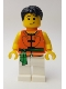Minifig No: hol157  Name: Dragon Boat Rower Team Orange / Green 04
