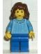 Minifig No: hp001  Name: Hermione, Medium Blue Torso, Blue Legs