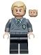 Minifig No: hp115  Name: Draco Malfoy, Slytherin Stripe and Shield Torso, Black Legs