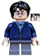 Minifig No: hp153  Name: Harry Potter, Dark Blue Zip Up