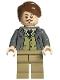 Minifig No: hp157  Name: Professor Remus Lupin, Dark Bluish Gray Jacket, Olive Green Vest