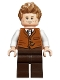 Minifig No: hp165  Name: Newt Scamander, Dark Orange Vest