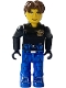 Minifig No: js028  Name: Jack Stone - Black Jacket, Blue Legs