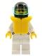 Minifig No: jstr010  Name: Jacket 2 Stars White - White Legs, Black Helmet, Trans-Light Blue Visor, Life Jacket