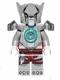 Minifig No: loc072  Name: Worriz - Flat Silver Heavy Armor