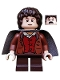 Minifig No: lor003  Name: Frodo Baggins - Dark Bluish Gray Cape