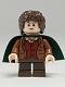 Minifig No: lor028  Name: Frodo Baggins - Dark Green Cape