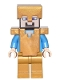 Minifig No: min031  Name: Steve - Pearl Gold Helmet, Armor and Legs