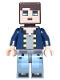 Minifig No: min041  Name: Minecraft Skin 8 - Pixelated, Dark Blue Jacket and Bright Light Blue and Sand Blue Legs