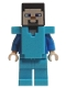Minifig No: min042  Name: Steve with Medium Azure Armor (21130)