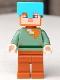 Minifig No: min062  Name: Alex - Medium Azure Helmet, Dark Orange Legs