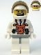 Minifig No: mm011  Name: Mars Mission Astronaut with Helmet and Dual Sided Face