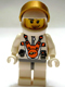 Minifig No: mm015  Name: Mars Mission Astronaut with Helmet, Metallic Gold Visor, Smirk and Stubble Beard