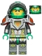 Minifig No: nex035  Name: Aaron - Flat Silver Visor, 2 Clips on Back