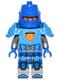 Minifig No: nex039  Name: Nexo Knight Soldier - Dark Azure Armor, Blue Helmet with Eye Slit, Blue Hands