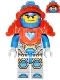Minifig No: nex073  Name: Clay, Trans-Neon Orange Armor