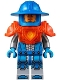 Minifig No: nex074  Name: Royal Soldier / Guard - Trans-Neon Orange Armor