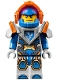 Minifig No: nex093  Name: Clay, Trans-Neon Orange Visor (70351)