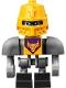 Minifig No: nex094  Name: Axl Bot - Dark Bluish Gray Shoulders and Yellow Helmet