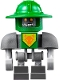 Minifig No: nex103  Name: Aaron Bot - Dark Bluish Gray Shoulders and Green Helmet
