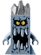 Minifig No: nex112  Name: Brickster - Large with Three Spikes on Head
