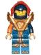 Minifig No: nex140  Name: Clay - Trans-Orange Visor, Armor