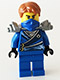 Minifig No: njo103  Name: Jay - Rebooted, Flat Silver Shoulder Armor
