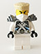 Minifig No: njo106  Name: Zane - Titanium Ninja White, Tan Hair