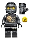 Minifig No: njo199a  Name: Cole - Skybound with Neck Bracket and Modified Tile (70599)