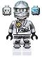 Minifig No: njo251  Name: Zane - Titanium Ninja Light Bluish Gray, Scabbard