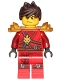 Minifig No: njo305  Name: Kai - Pearl Gold Armor, Tousled Hair (891723)