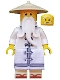 Minifig No: njo315  Name: Sensei Wu - White Robe, Zori Sandals, The LEGO Ninjago Movie (70618)