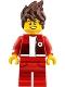 Minifig No: njo327  Name: Kai - The LEGO Ninjago Movie, Hair, Red Legs and Jacket, Bandage on Forehead