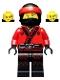 Minifig No: njo349  Name: Kai - The LEGO Ninjago Movie, Fire Mech Driver
