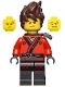 Minifig No: njo360  Name: Kai - The LEGO Ninjago Movie, Hair, Pearl Dark Gray Katana Holder