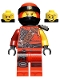 Minifig No: njo473  Name: Kai - Hunted, Pearl Dark Gray Side-Scabbard