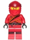 Minifig No: njo513  Name: Kai (Legacy) - Dark Red Diamonds Tunic