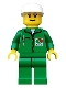 Minifig No: oct013  Name: Octan - Green Jacket with Pen, Green Legs, White Cap