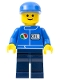 Minifig No: oct062  Name: Octan - Blue Oil, Dark Blue Legs, Blue Cap