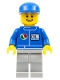 Minifig No: oct063  Name: Octan - Blue Oil, Light Bluish Gray Legs, Blue Cap
