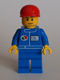 Minifig No: oct064  Name: Octan - Blue Oil, Blue Legs, Red Short Bill Cap, Smirk and Stubble Beard