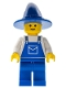 Minifig No: ovr035  Name: Overalls Blue with Pocket, Blue Legs, Blue Wizard / Witch Hat