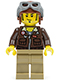 Minifig No: pha001  Name: Jake Raines - Aviator Jacket, Aviator Cap