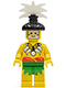 Minifig No: pi069  Name: Islander, King, with Black Hair-Piece