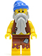 Minifig No: pi100  Name: Pirate Vest and Anchor Tattoo, Gray Beard, Blue Bandana (Castaway)