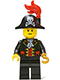 Minifig No: pi138  Name: Captain, Bicorne Hat with Skull and Plume (9349)