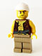 Minifig No: pi158  Name: Old Pirate - Vest and Anchor, Crooked Smile and Scar